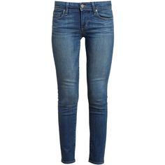 PAIGE DENIM Skyline Ankle Denim Jeans ($300) ❤ liked on Polyvore featuring jeans, pants, bottoms, pantalones, calças, ankle length skinny jeans, paige denim, 5 pocket jeans, skinny leg jeans and short pants