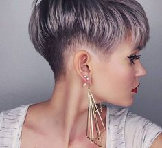 Pixie haircut is really appealing and perfect idea for ladies who want to change their looks completely. So today I will show you the latest pixie haircut. Shaved Side Hairstyles, Pixie Hairstyles, Pixie Haircut, Brown Hairstyles, Cut My Hair, New Hair, Short Hair Cuts, Short Hair Styles, Pixie Cuts