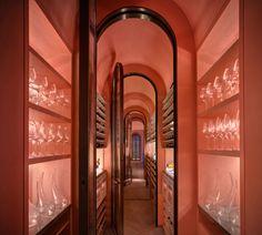 Yabu Pushelberg design new fine-dining restaurant, Arbor Michelin Star, Restaurant Design, Yabu Pushelberg, Hongkong, Wine Display, Live Coral, Article Design, Wine Cellar, Restaurants