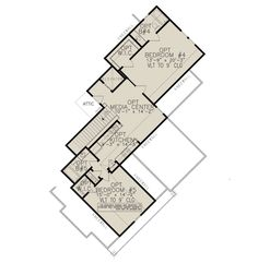 Optional Second Floor for House Plan Plan Front, Farmhouse Plans, Farmhouse Style, 5 Bedroom House, Walkout Basement, Best House Plans, Architectural Design House Plans, Fireplace Wall, Sous Sol