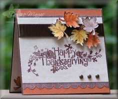 Thanksgiving Leaves by peanutbee - Cards and Paper Crafts at Splitcoaststampers