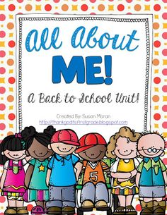 TGIF! - Thank God It's First Grade!: All About ME! A Back to School Unit includes getting to know you activities, teaming up activities, favorite things mobile/mini-book, etc.