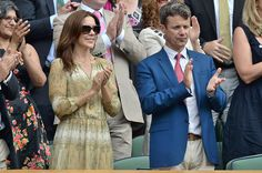 Princess Mary and Prince Frederik watched Wimbledon's tournament 2014...always love how she match her outfit with the occasion