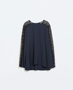 Image 7 of SLIT TOP WITH LACE from Zara
