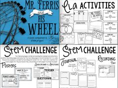Mr. Ferris and His Wheel is the enchanting story of one of the World's most beloved carnival rides! https://www.teacherspayteachers.com/Product/Mr-Ferris-and-His-Wheel-Book-Companion-and-STEM-Challenge-2631343