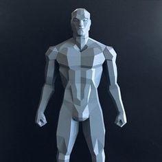Low Poly Figure v2  • Download on https://cults3d.com • #3Dprinting #3Dprint #3Ddesign #STLmodel #3Dmodel #3Dprinter #Impression3D #Imprimante3D #Fichier3D #Design #3Dmodeling #3D