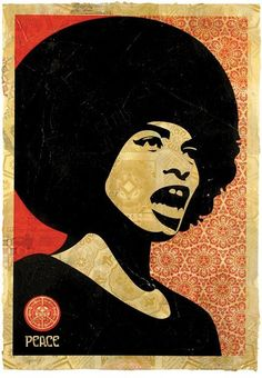 """Shepherd Fairey's Angela Davis"""
