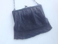 Antique Gun metal Mesh handbag  Purse by Frenchsteelbeadshop, $60.00