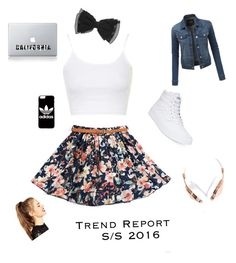 """school dayz"" by oliviaokamoto on Polyvore featuring Topshop, Vans, LE3NO, adidas, Frends and ASOS"