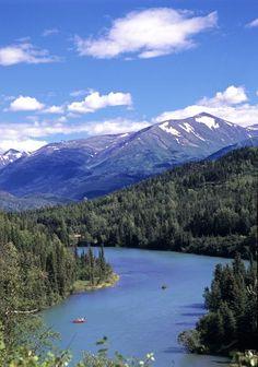 Salmon Fishing– Kenai River, Alaska Been here, fished for Red Salmon.