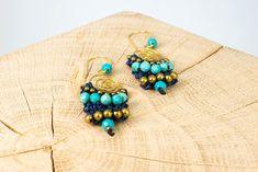 """Ohrschmuck """"Blue Twist"""" Fair Trade, Ear Jewelry, Rhinestones"""