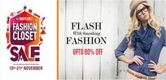 Exclusives offer on top branded products like #clothing #watch #footwear and more with upto 80% OFF for men's & women's from #Shopclues #Fashion Closet #Sale.