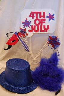 Photo Booth Props using Silhouette Cameo for 4th of July