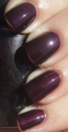 Eiffel For This Color is a dark vampy purple shimmer. From the France collection.
