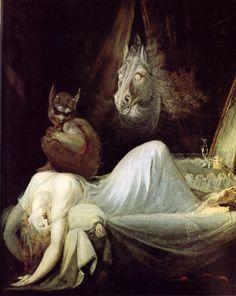 Johann Heinrich Füssli, Nachtmahr / The nightmare, 1802, Freies Deutsches Hochstift, Goethemuseum.