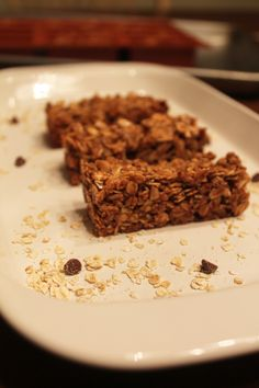 Chocolate Honey Granola Bars