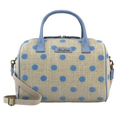 Button Spot Embroidered Spot Bowler Bag | Cath Kidston |