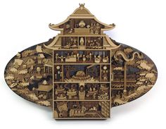 Martin Tomsky's Wood Art Brings Fictional Worlds To Life