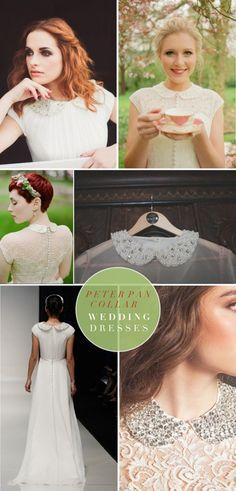 Wedding Dress Trends We Love | Peter Pan Collar Wedding Dresses | Darby & Joan Vintage
