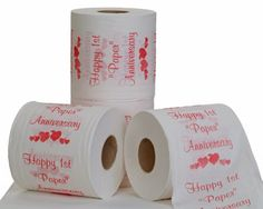 Toilet paper for your first anniversary. :)