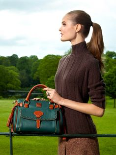 Pin & Win! Classic chic. Go green #dooney #handbag #satchel #macysfallstyle BUY NOW!   #macysfallstyle