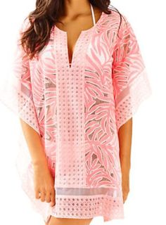 Lilly Pulitzer Lindamarie Coverup Coral Reef Burnout Lace