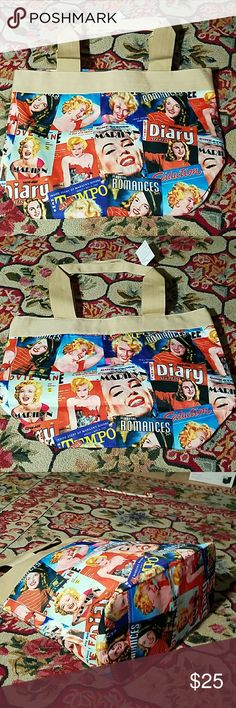 New Marilyn Monroe Bag Tote Purse New Marilyn Monroe Bag Tote Purse Certification Bags Totes