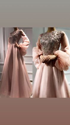 Light pink maxy with beggy sleeves and embroidered top Tesettür Abiye Modelleri 2020 Hijab Prom Dress, Hijab Evening Dress, Hijab Style Dress, Evening Dresses, Prom Dresses, Formal Dresses, Wedding Dresses, Wedding Robe, Engagement Party Dresses
