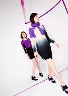 Sonia by Sonia Rykiel Pre Fall 2014 #RadiantOrchid  dress in the back