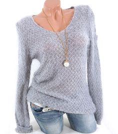 Damen Strick Pullover V-Neck  Fashion  Mode  Damenmode  onlineshop  herbst 102792c628f