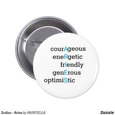 Zodiac - Aries Button