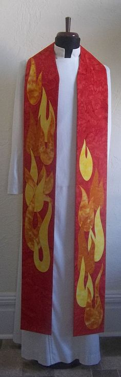 Red Clergy Stole Will Ship by May 23 by SerendipityStoles on Etsy