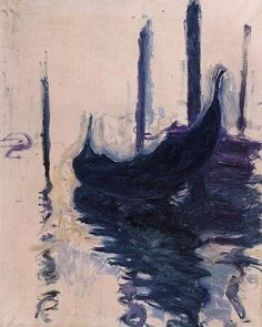 Gondolas in Venice | Claude Monet