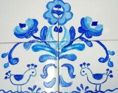 Please check more!! Awesome ¿Por qué todos hablan de Azulejo Frio? El | azulejo frio Tile Ideas, Painting, Cold, Art Production, Craft Ideas, Vases, Dibujo, Tiles, Gone Fishing