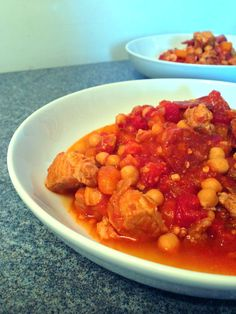 Slow cooked pork belly chorizo stew