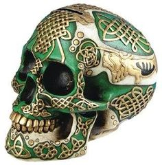 Green and Gold Skull