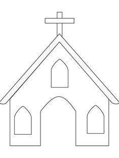 coloring page of a church | Church coloring page | Download Free Church coloring page for kids ...