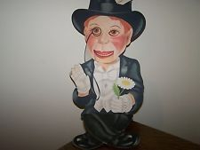 Vintage Charlie McCarthy Cardboard Mechanical Puppet Doll