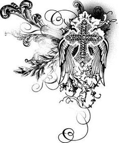 gothic cross tattoo designs - Google Search