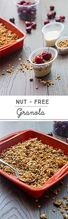 Granola is such a lovely breakfast idea that I always keep in my cupboard and it's also a nutritious lunch box addition. With crunchy seeds, cinnamon and honey or maple syrup for sweetness, my delicious nut-free granola is super healthy and simple to make. Many schools have put a ban on nuts altogether, which is why my nut-free version is the perfect lunchtime snack for children. Pumpkin and sunflower seeds are loaded with nutrients and are a great source of protein giving a mild nutty…