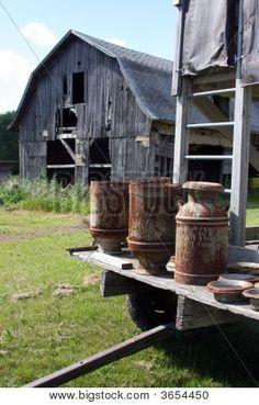 Vintage Milk Cans Old Barn Stock Photo - 3654450 | Bigstock