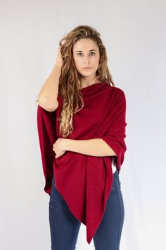 Merlot 100% Cashmere Poncho for sale online in South Africa – Pebble&Jack
