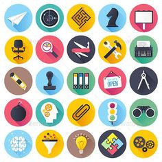 Buy Brainstorming and Leadership Flat Icons by denkcreative on GraphicRiver. Flat style with long shadows, brainstorming and leadership themed vector illustrations. Flat Design Icons, Icon Design, Set Design, Leadership Games, Vector Design, Graphic Design, Human Icon, Best Icons, Business Icon
