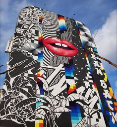 Felipe Pantone for East Side Hotel, in Mühlenstraße, Berlin, 2017