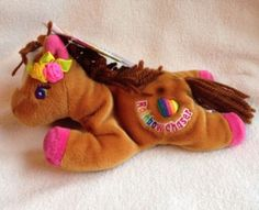 Vintage Lisa Frank Rainbow Chaser Horse New With Tags Fantastic Beans  Series One 8f995f208ac3