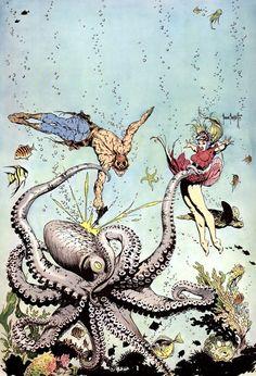 Buck Rogers cover art by Frank Frazetta for Famous Funnies (1950's). #frankfrazetta #buckrogers