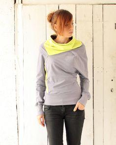 Gray cozy sweatshirt Urban sweatshirt by dressign on Etsy Summer Sweaters, Hoodies, Sweatshirts, Hooded Jacket, Dressing, Cute Outfits, Cozy, Urban, Yellow
