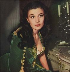 """Vivien Leigh as Scarlett O'Hara, """"Gone With The Wind"""", Vintage Hollywood, Hollywood Glamour, Classic Hollywood, Rhett Butler, Scarlett O'hara, Vivien Leigh, Divas, Tomorrow Is Another Day, Actrices Hollywood"""