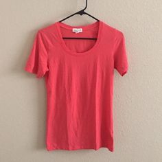 Forever 21 top Extra soft crew neck shirt. Coral color. Forever 21 Tops Tees - Short Sleeve
