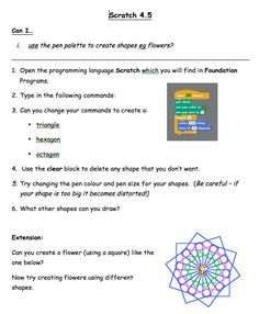 Five simple activity sheets for lower KS2 from Jackie Kershaw in the CAS resources (need to join the CAS Community)